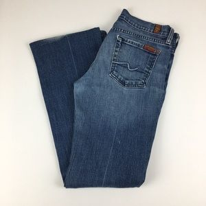 7 for all Mankind bootcut 26p blue jeans 7FAM